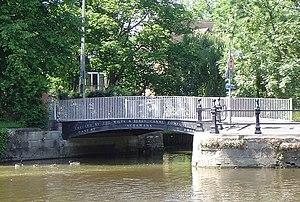 River Ock - Bridge across the River Ock as it flows into the Thames at Abingdon