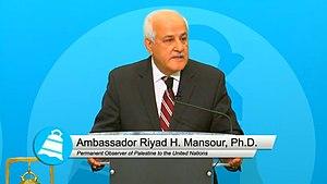 Riyad Mansour - Image: Riyad Mansour (City Club of Cleveland)