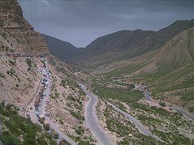 Road Block due to landslide at Girdu