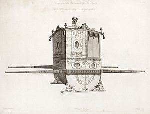 A sedan chair designed by Robert Adam for Quee...
