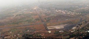 Roberts International Airport - An aerial view of the airport.