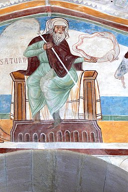 Rocca di Angera - Sala di Giustizia Fresko Astrologie Winter 3
