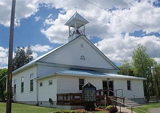 Flushing Township, Belmont County, Ohio - Rock Hill Baptist Church (1845), on County Road 72
