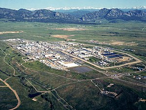 English: Rocky Flats Site. Aerial photograph t...