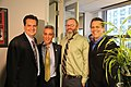 Roe Conn, Mayor-Elect Rahm Emanuel, Dan Sinker, Richard Roeper, and Fern (5493053485).jpg
