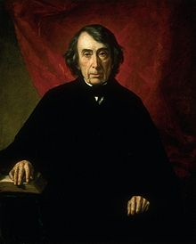 A portrait of Chief Justice Roger B. Taney
