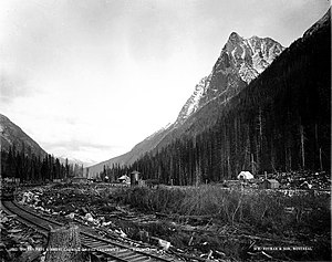 Rogers Pass (British Columbia) - Rogers Pass and Mount Carroll on the C.P.R., BC, 1887