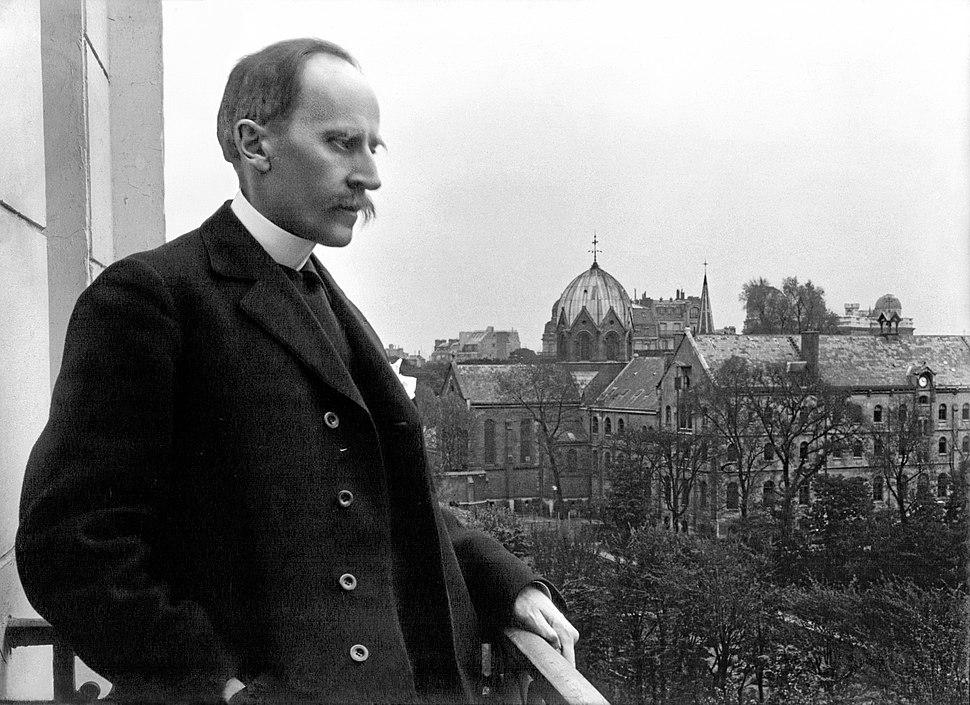 Romain Rolland au balcon, Meurisse, 1914 retouche