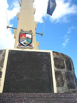 Coat of arms of Sint Eustatius -  The Coat of Arms at Fort Orange