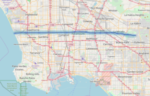 Rosecrans Avenue - A map with Rosecrans Avenue highlighted in blue