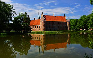Rosenholm Castle - The pond is full of carp and other fish