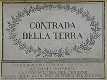 Contrada della Terra, a Rovereto. Memoria storica della presenza di Antonio Rosmini.