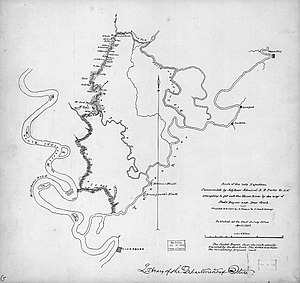 Deer Creek (Mississippi) - Image: Route of the late expedition commanded by Act'g. Rear Admiral D. D. Porter U.S.N. attempting to get into the Yazoo River by the way of Steels Bayou and Deer Creek