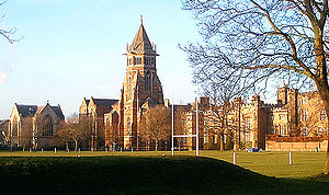 Public school (United Kingdom) - The playing fields of Rugby School, where according to legend the game of rugby football was invented