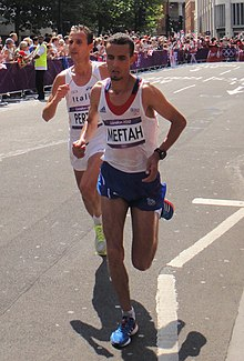 Ruggero Pertile and Abdellatif Meftah - London 2012 Men's Marathon.jpg