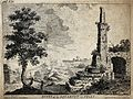Ruins of an aqueduct in Italy. Etching by B. Mayor and W. Pe Wellcome V0020177.jpg