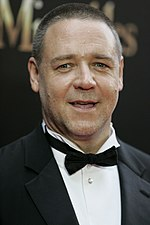 Photo of Russell Crowe at the premiere of Les Misérables in 2012.