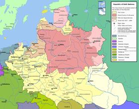 Il voivodato di Lublino all'epoca della Confederazione polacco-lituana