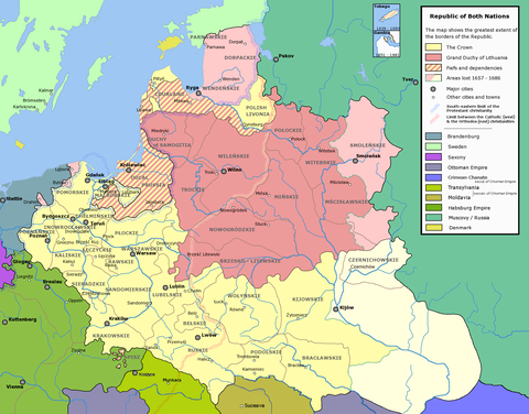 The Grand Duchy of Lithuania within the Polish-Lithuanian Commonwealth c. 1635 Rzeczpospolita voivodships.png