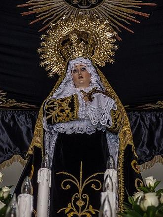 Our Lady of Solitude - Image: SEMANA SANTA DE TERUEL Cofradía de Nuestra Señora de la Soledad 1515