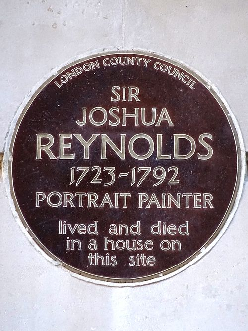 Sir joshua reynolds 1723 1792 portrait painter lived and died in a house on this site