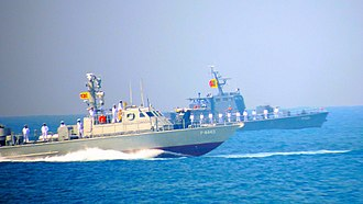 Sri Lanka Armed Forces - Sri Lanka Navy Super Dvora MKIII and Patrol Boat on Navy display of 70th Independence Day