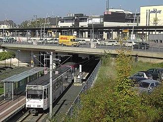 Siegburg/Bonn station - The Stadtbahn stop in the basement