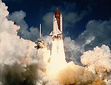 Liftoff of the first flight of Atlantis and the STS 51-J mission.