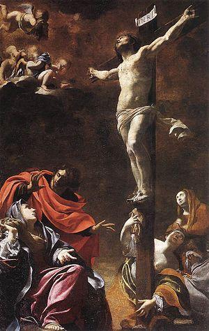 Luke 23 - The Crucifixion (1622) by Simon Vouet; Church of Jesus, Genoa