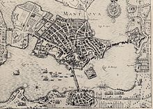 Mantua at the time of its sacking in 1630 (Source: Wikimedia)