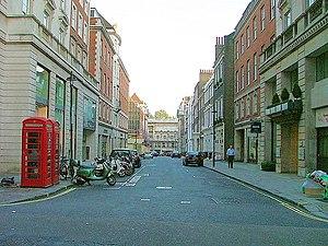 Sackville Street, London - Sackville Street, looking south towards Piccadilly.