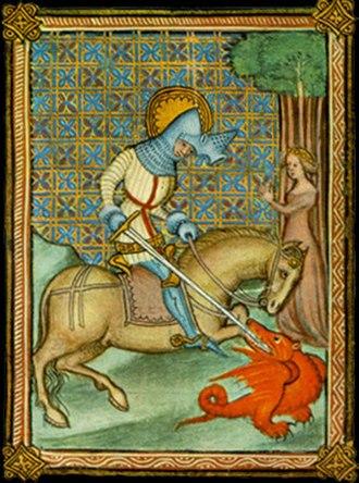 Draguignan - Saint-Georges killing dragon, 15th century