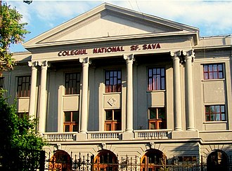 Education in Romania - Saint Sava National College, one of the most prestigious high schools in Romania
