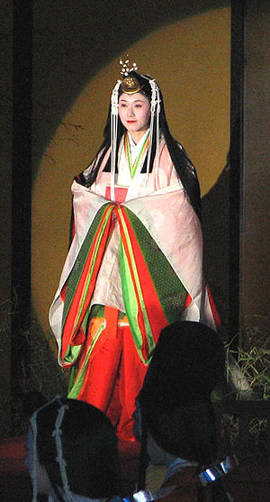 Saiō - Saiō in jūnihitoe, a Heian imperial kimono (at the 2007 Saiō Matsuri)