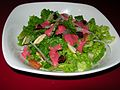 Salad with cranberry dressing.jpg