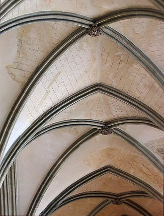 Boss (architecture) - Image: Salisbury Cathedral Detail Bosses