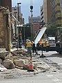 Salvaging Porfirio Salinas mural from burned building - panoramio.jpg