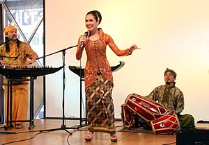 Music of Indonesia - SambaSunda music performance, featuring traditional Sundanese music instruments such as kecapi, suling, and kendang.