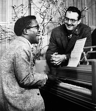 The Steve Allen Show - Allen and Sammy Davis Jr. rehearsing for the premiere show in 1956.