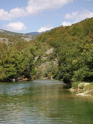 Sana (river) - The Sana river near Donji Vrbljani, Bosnia.
