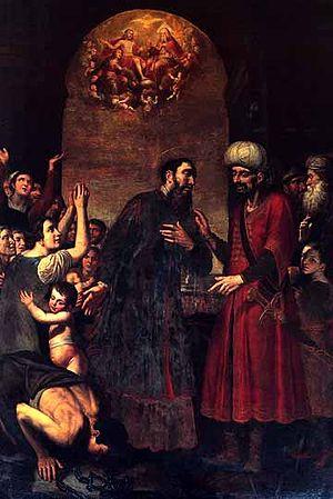 Saint Paul frees a slave
