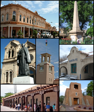 Santa Fe, New Mexico - Santa Fe's downtown area