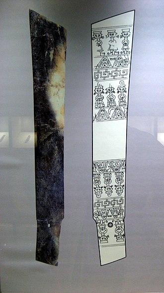 Sanxingdui - Large jade zhang blade. Sanxingdui Museum. Length 54 cm (21 in).