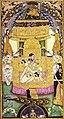 Saraswati enthroned, signed by Farrukh Husayn, Bijapur, ca.1604. Jaipur, Brigadier Sawai Bhawani Singh of Jaipur, City Palace.jpg