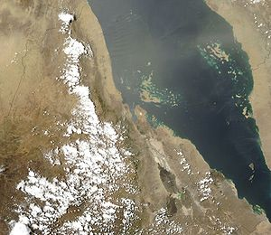 Outline of Eritrea - An enlargeable satellite image of Eritrea