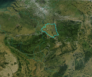 Lower Rhine Bay - Satellite image of the Lower Rhine Bay