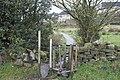 Scaffold Tube Stile - geograph.org.uk - 1593831.jpg