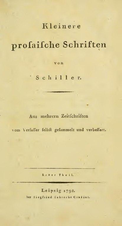 Schiller, Friedrich %E2%80%93 Kleinere prosaische Schriften vol 1, 1792 %E2%80%93 BEIC 3285369