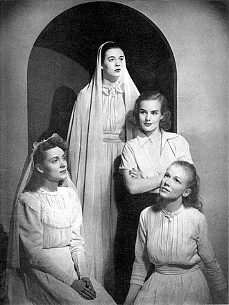 Frances Farmer - Left to right: Martha Scott, Uta Hagen, Farmer, and Julie Haydon posed in Stage magazine, 1938