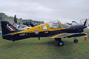 Southampton University Air Squadron - Southampton UAS Scottish Aviation Bulldog at RAF Cottesmore in 2000
